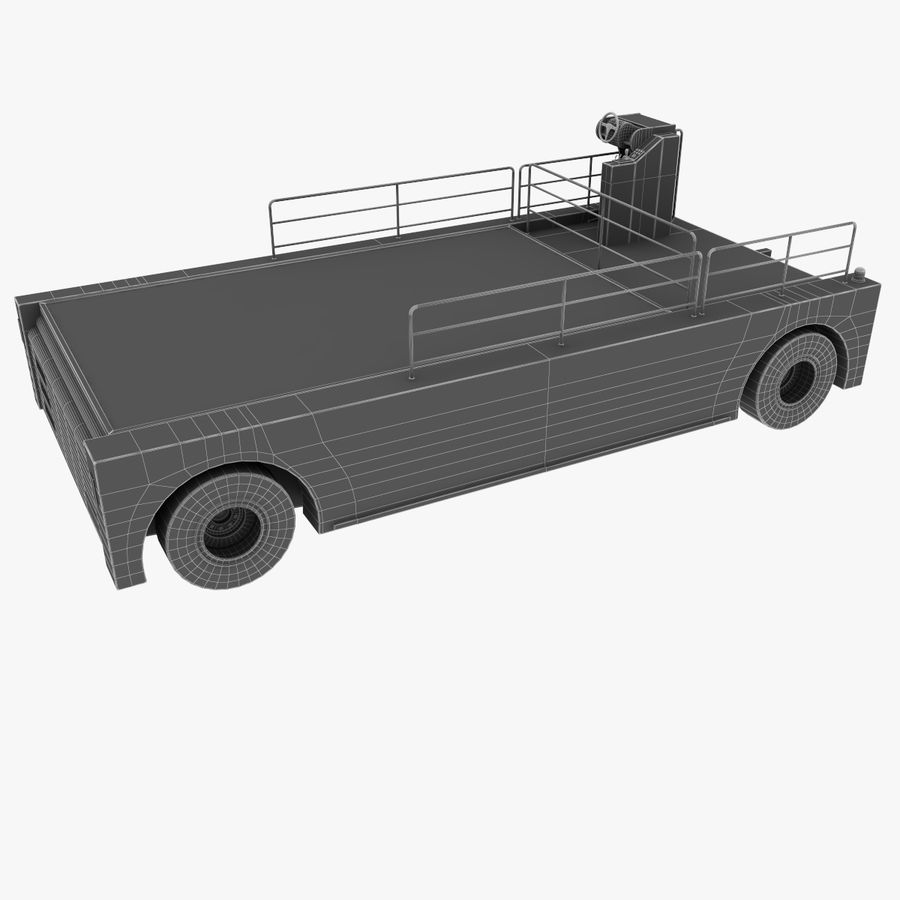 Airport Cargo Loader royalty-free 3d model - Preview no. 15