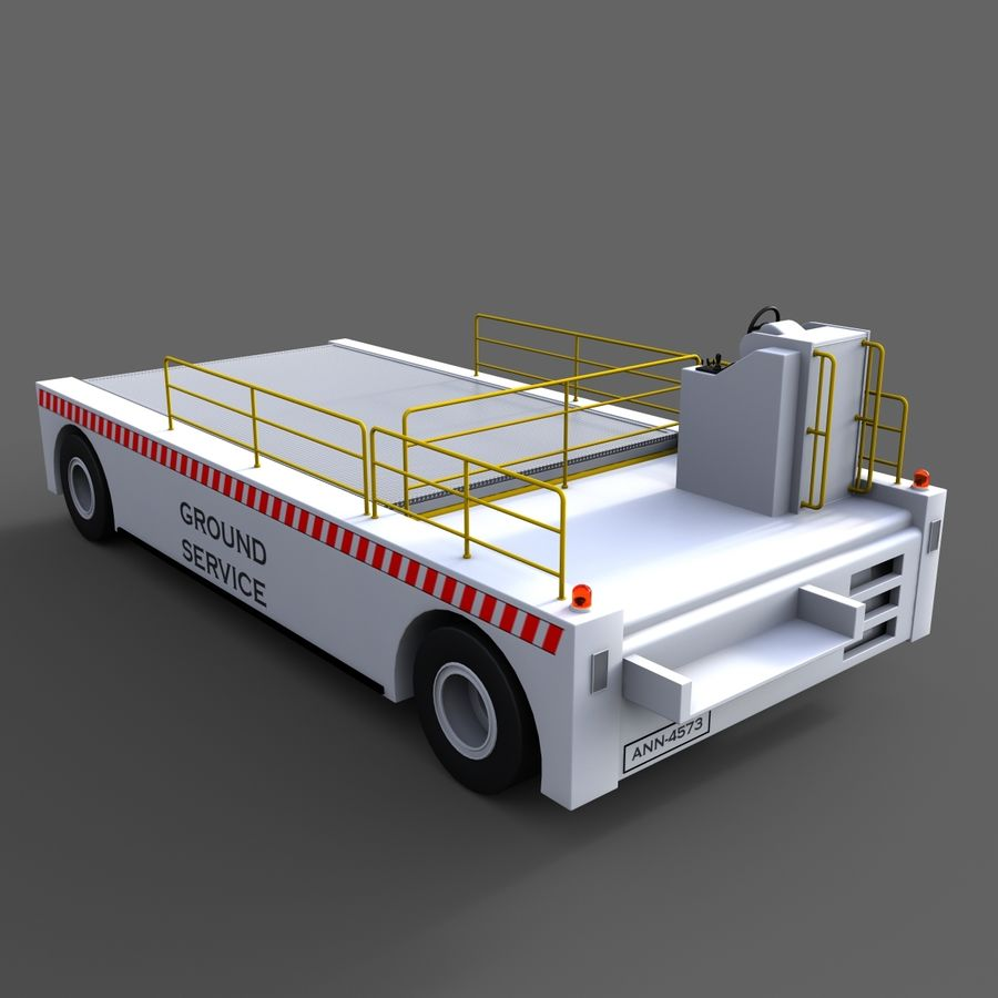 Airport Cargo Loader royalty-free 3d model - Preview no. 2