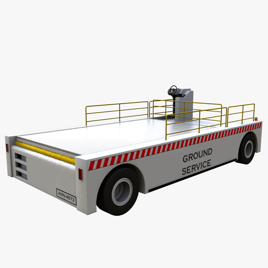 Airport Cargo Loader royalty-free 3d model - Preview no. 4