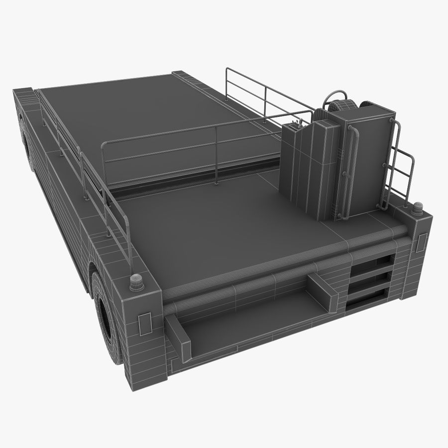 Airport Cargo Loader royalty-free 3d model - Preview no. 12