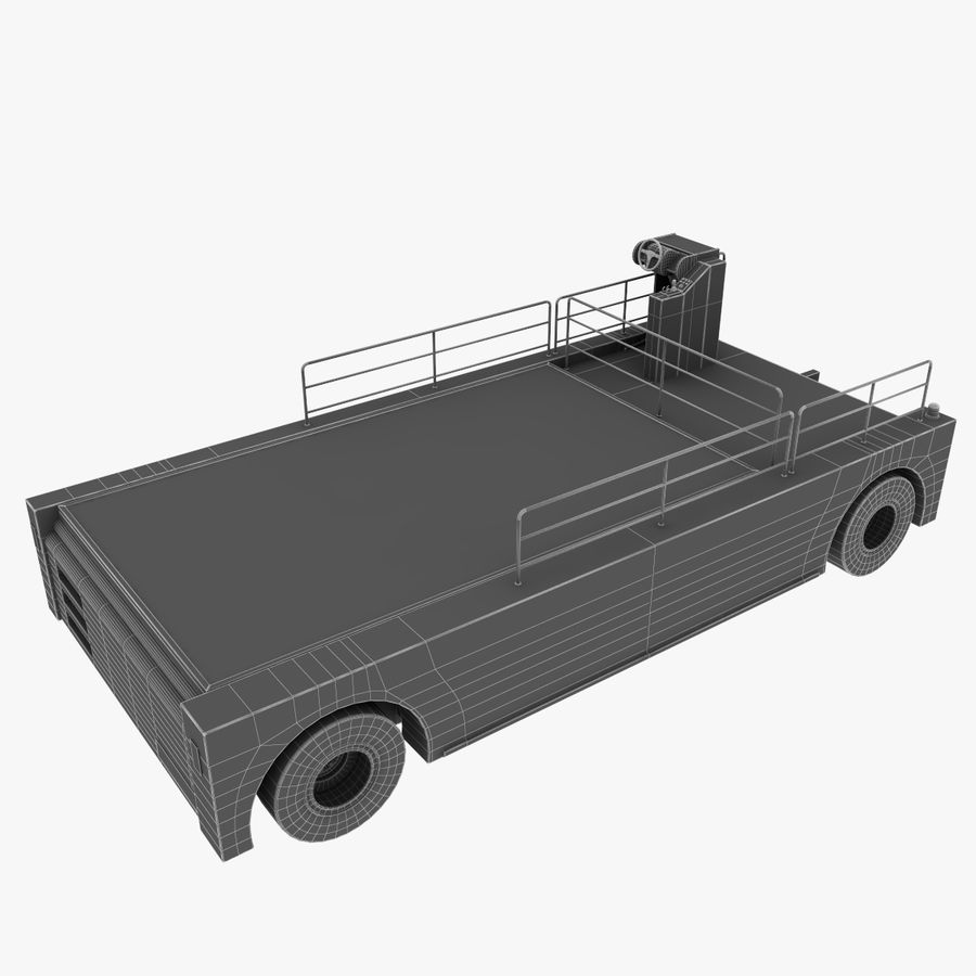 Airport Cargo Loader royalty-free 3d model - Preview no. 11