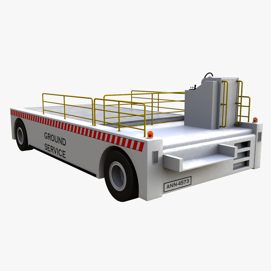 Airport Cargo Loader royalty-free 3d model - Preview no. 3