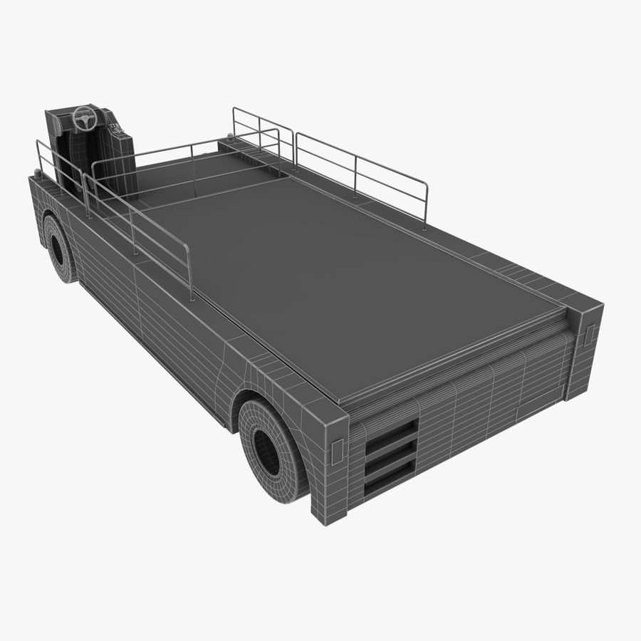 Airport Cargo Loader royalty-free 3d model - Preview no. 14