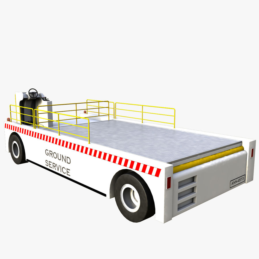 Airport Cargo Loader royalty-free 3d model - Preview no. 5