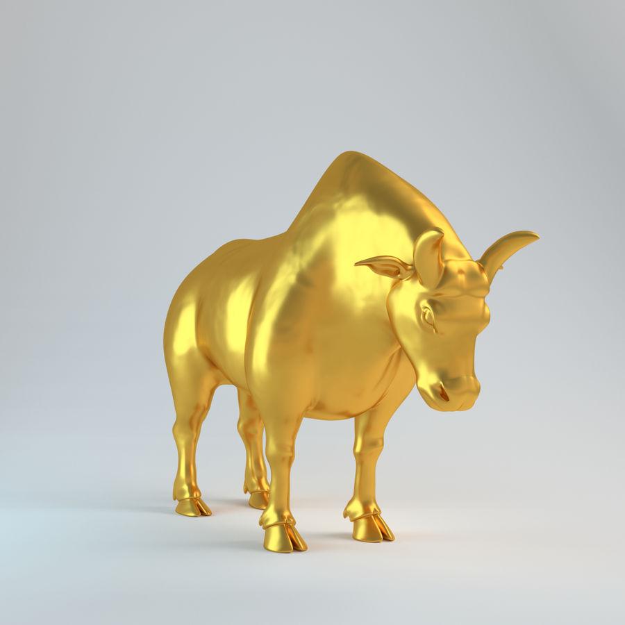 Gold Bull V1 royalty-free 3d model - Preview no. 8