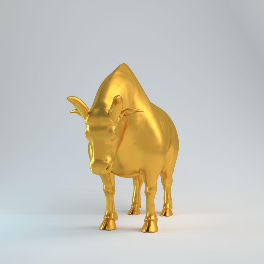 Gold Bull V1 royalty-free 3d model - Preview no. 1