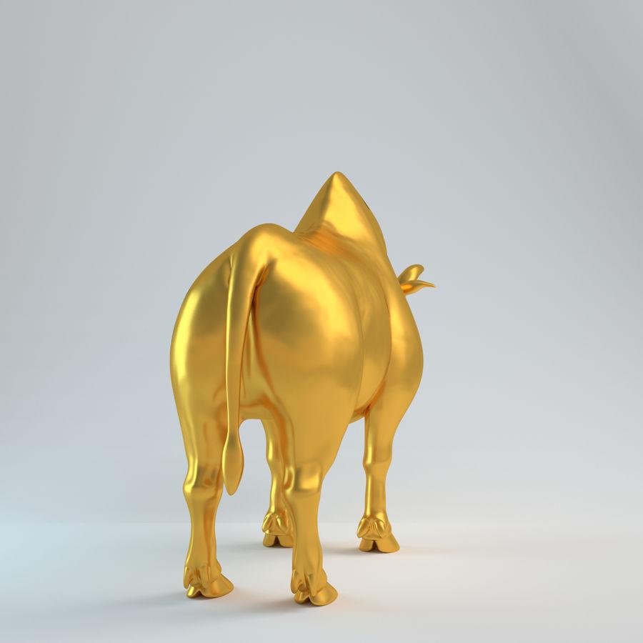 Gold Bull   V1 royalty-free 3d model - Preview no. 6