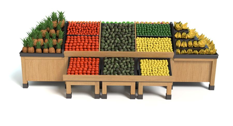 Produce Display royalty-free 3d model - Preview no. 8