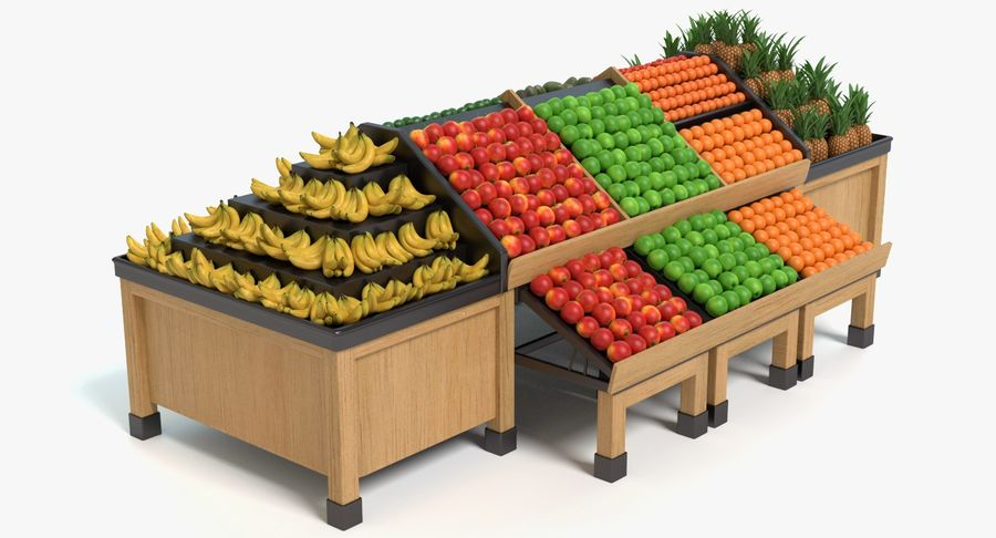 Produce Display royalty-free 3d model - Preview no. 2