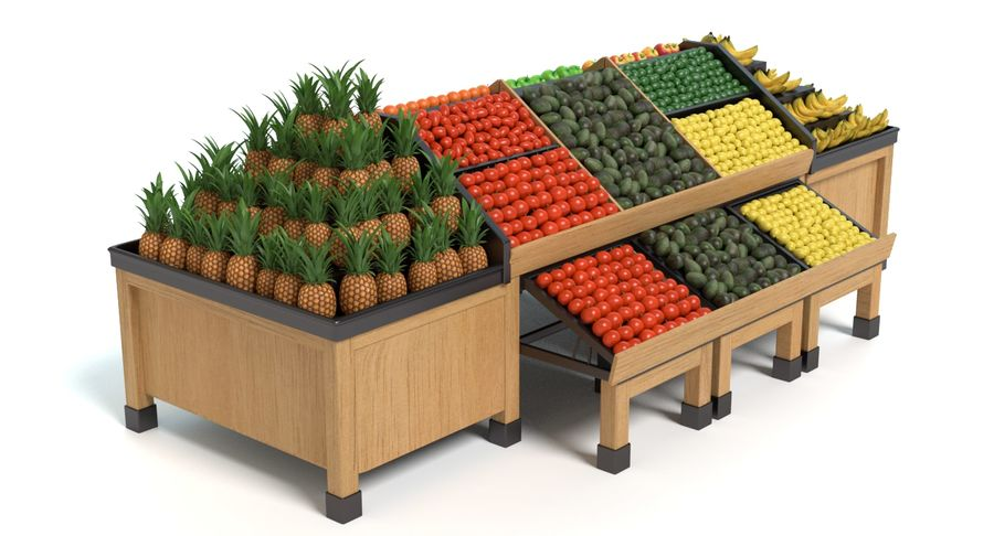 Produce Display royalty-free 3d model - Preview no. 3