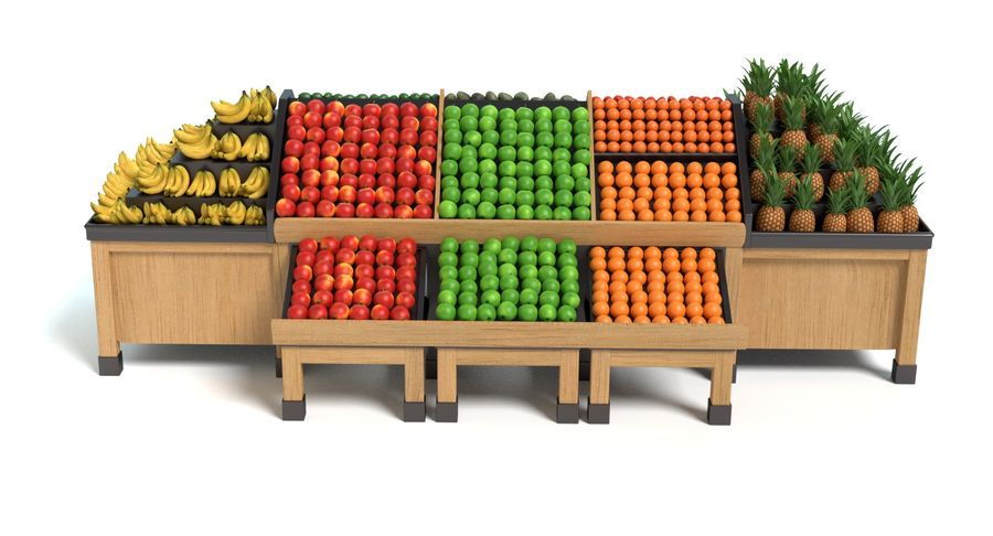Produce Display royalty-free 3d model - Preview no. 11
