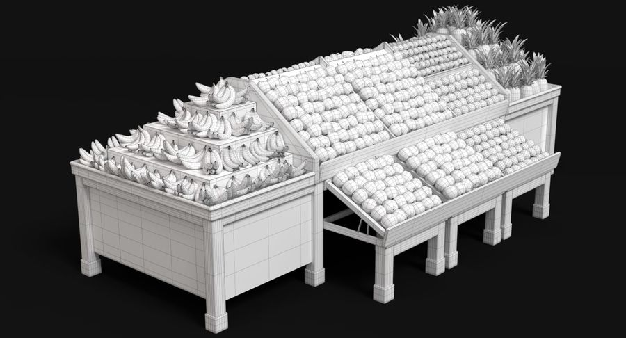 Produce Display royalty-free 3d model - Preview no. 16