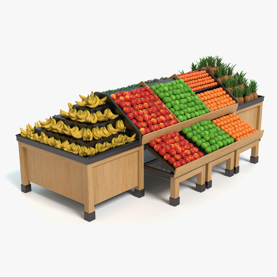 Produce Display royalty-free 3d model - Preview no. 1
