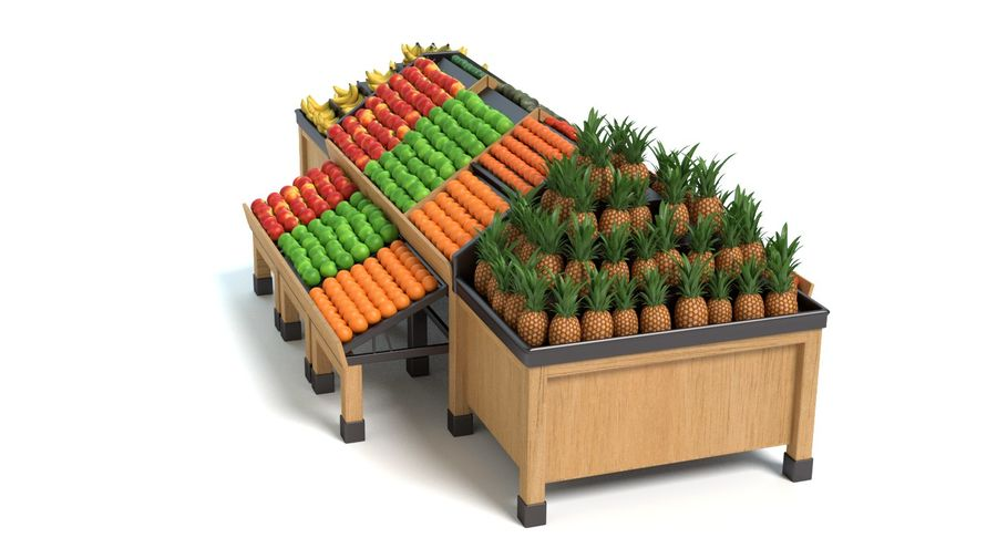 Produce Display royalty-free 3d model - Preview no. 10