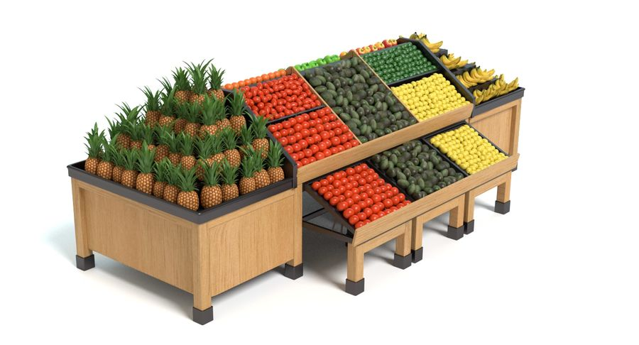Produce Display royalty-free 3d model - Preview no. 9