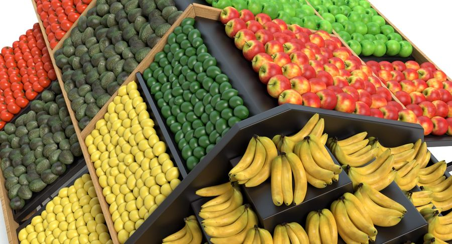 Produce Display royalty-free 3d model - Preview no. 6