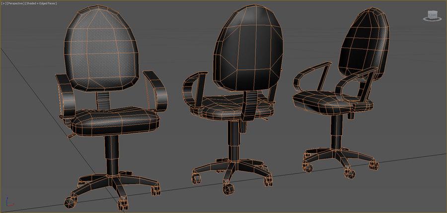 Colección de muebles de oficina royalty-free modelo 3d - Preview no. 8