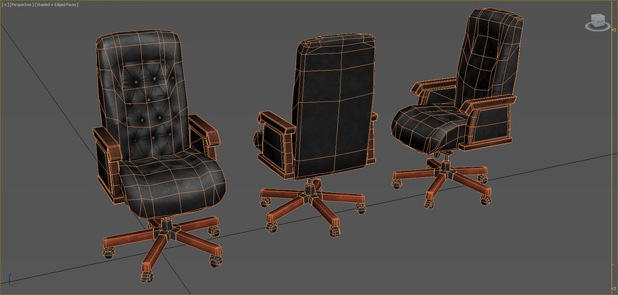 Colección de muebles de oficina royalty-free modelo 3d - Preview no. 32