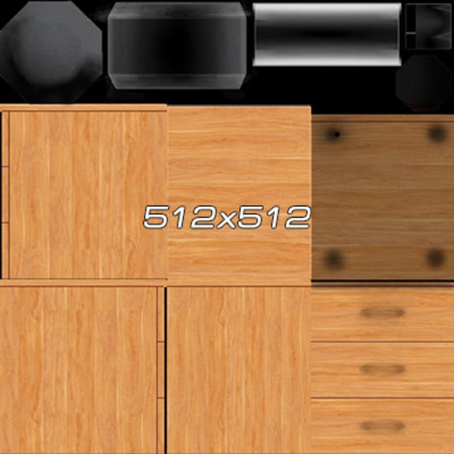 Colección de muebles de oficina royalty-free modelo 3d - Preview no. 59
