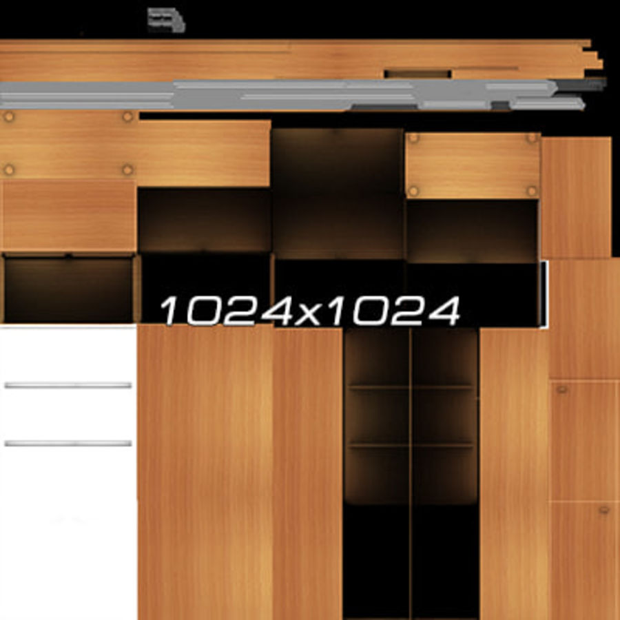Colección de muebles de oficina royalty-free modelo 3d - Preview no. 15