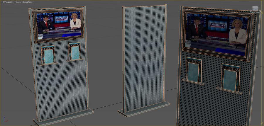 Colección de muebles de oficina royalty-free modelo 3d - Preview no. 67