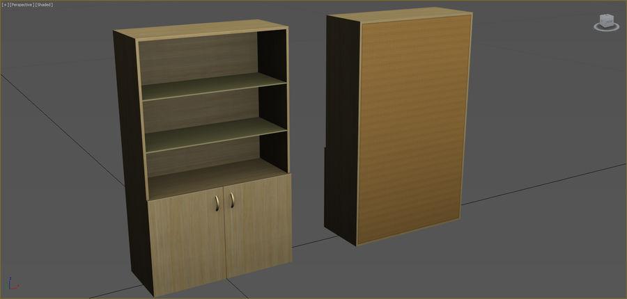 Colección de muebles de oficina royalty-free modelo 3d - Preview no. 22