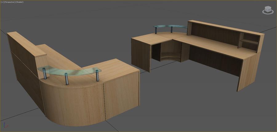 Colección de muebles de oficina royalty-free modelo 3d - Preview no. 51