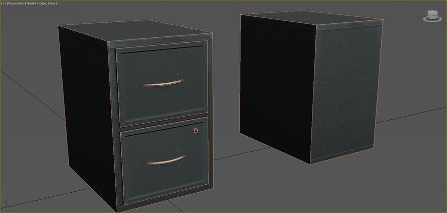 Colección de muebles de oficina royalty-free modelo 3d - Preview no. 17