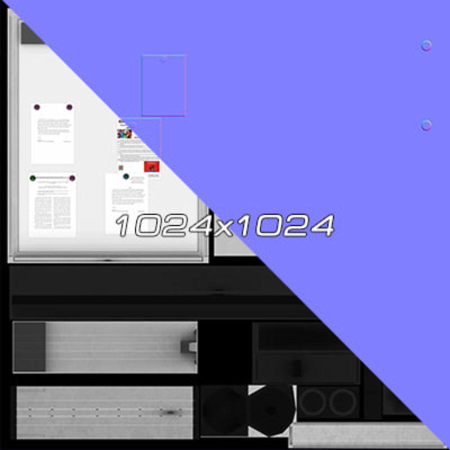 Colección de muebles de oficina royalty-free modelo 3d - Preview no. 65
