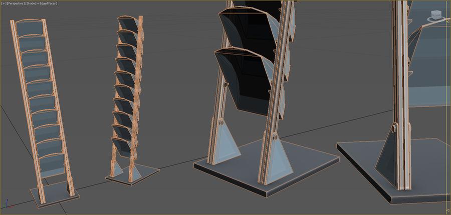 Colección de muebles de oficina royalty-free modelo 3d - Preview no. 70