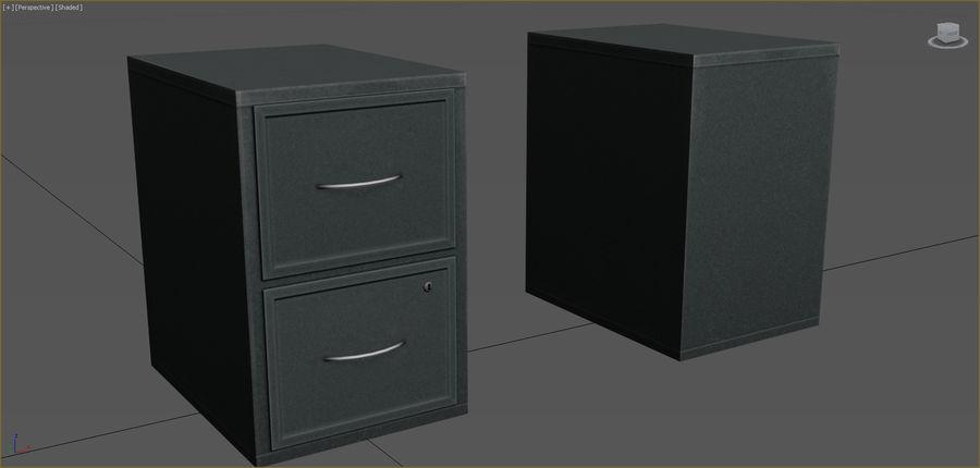 Colección de muebles de oficina royalty-free modelo 3d - Preview no. 16
