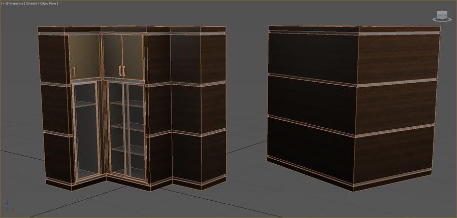 Colección de muebles de oficina royalty-free modelo 3d - Preview no. 26