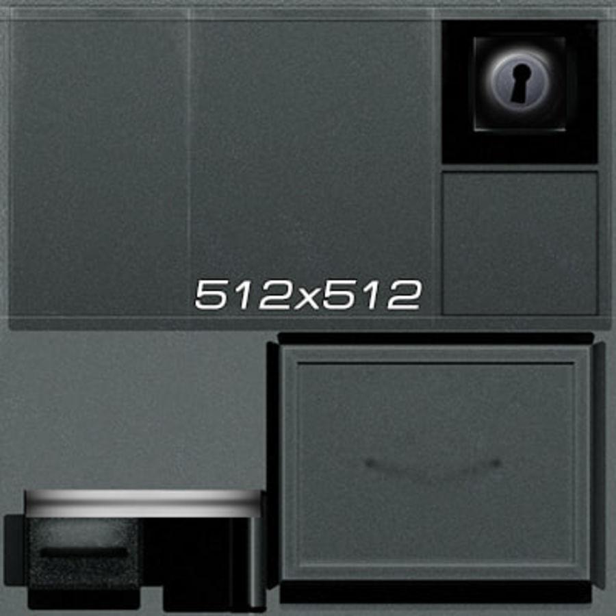 Colección de muebles de oficina royalty-free modelo 3d - Preview no. 18