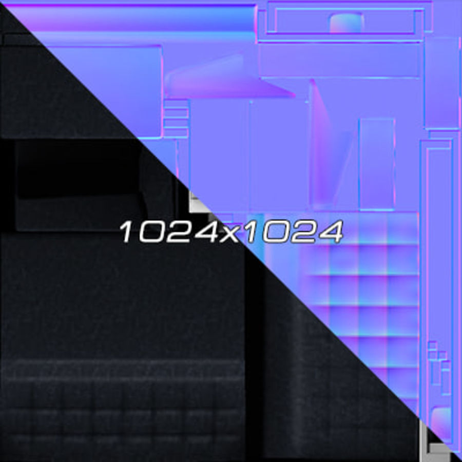 Colección de muebles de oficina royalty-free modelo 3d - Preview no. 80
