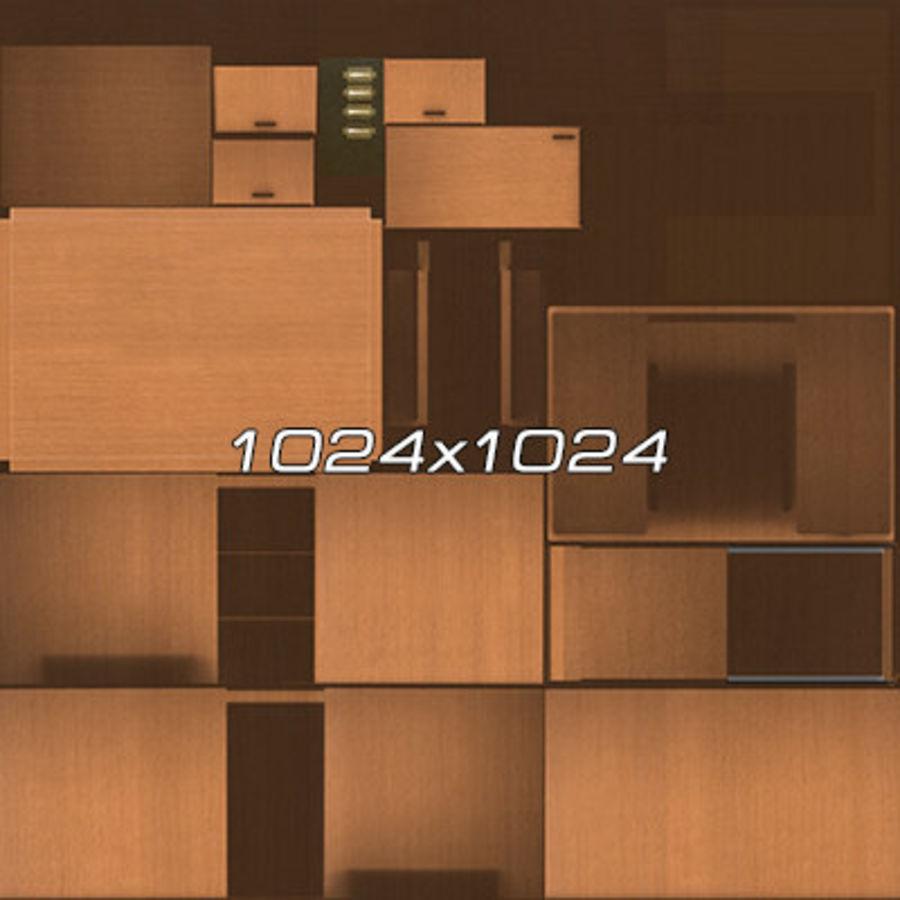 Colección de muebles de oficina royalty-free modelo 3d - Preview no. 44