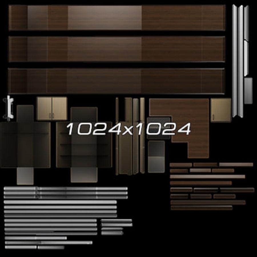 Colección de muebles de oficina royalty-free modelo 3d - Preview no. 27