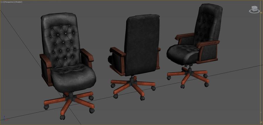Colección de muebles de oficina royalty-free modelo 3d - Preview no. 31