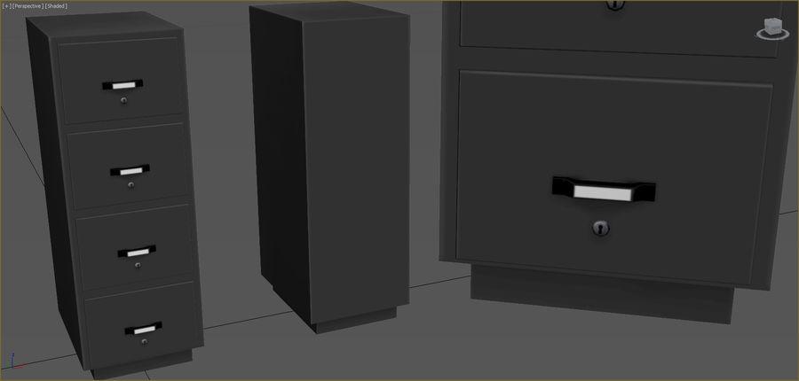 Colección de muebles de oficina royalty-free modelo 3d - Preview no. 19