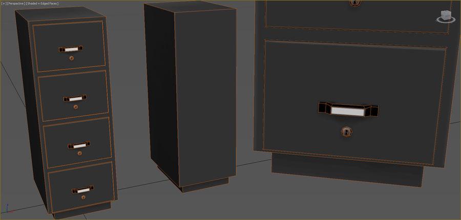 Colección de muebles de oficina royalty-free modelo 3d - Preview no. 20