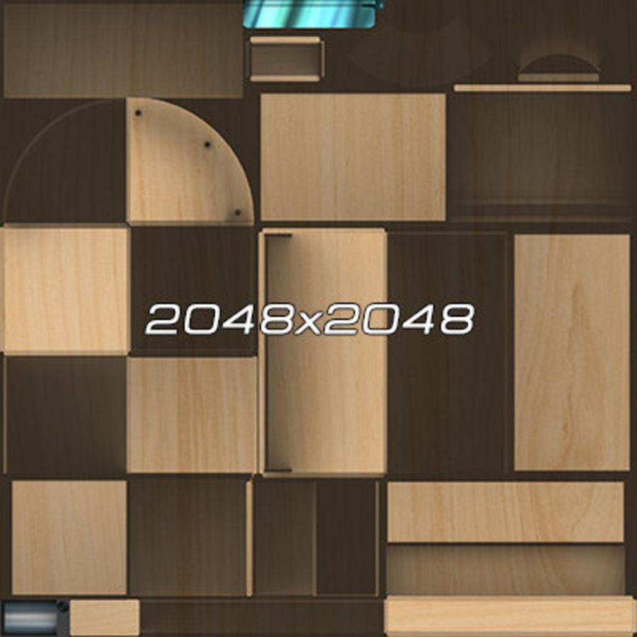 Colección de muebles de oficina royalty-free modelo 3d - Preview no. 53