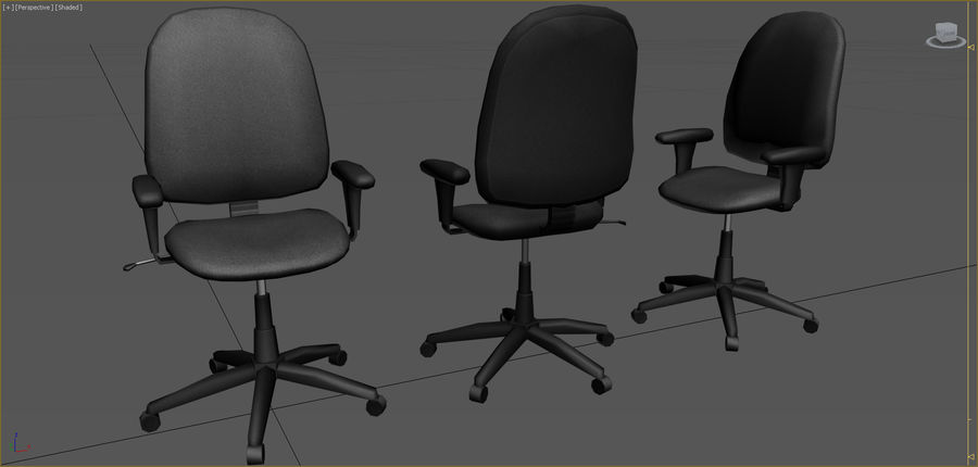 Colección de muebles de oficina royalty-free modelo 3d - Preview no. 2