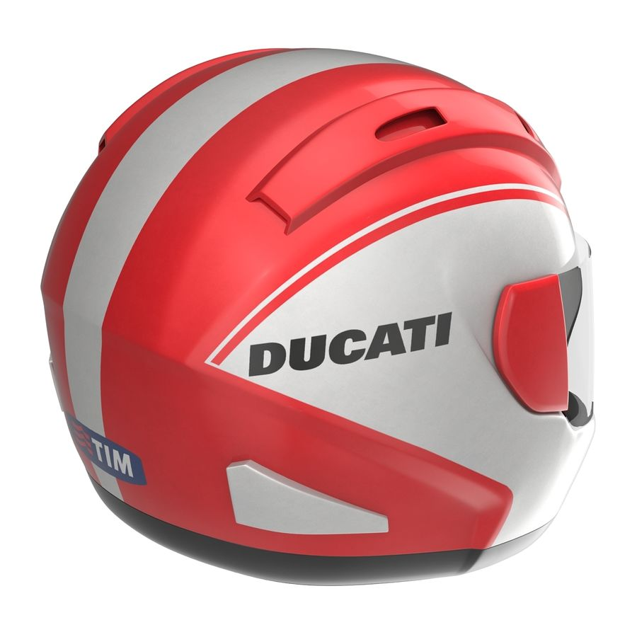 Motorcycle Helmet royalty-free 3d model - Preview no. 7