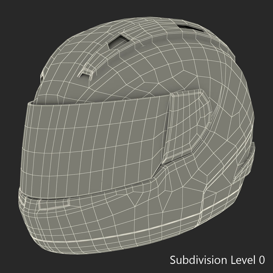 Motorcycle Helmet royalty-free 3d model - Preview no. 19