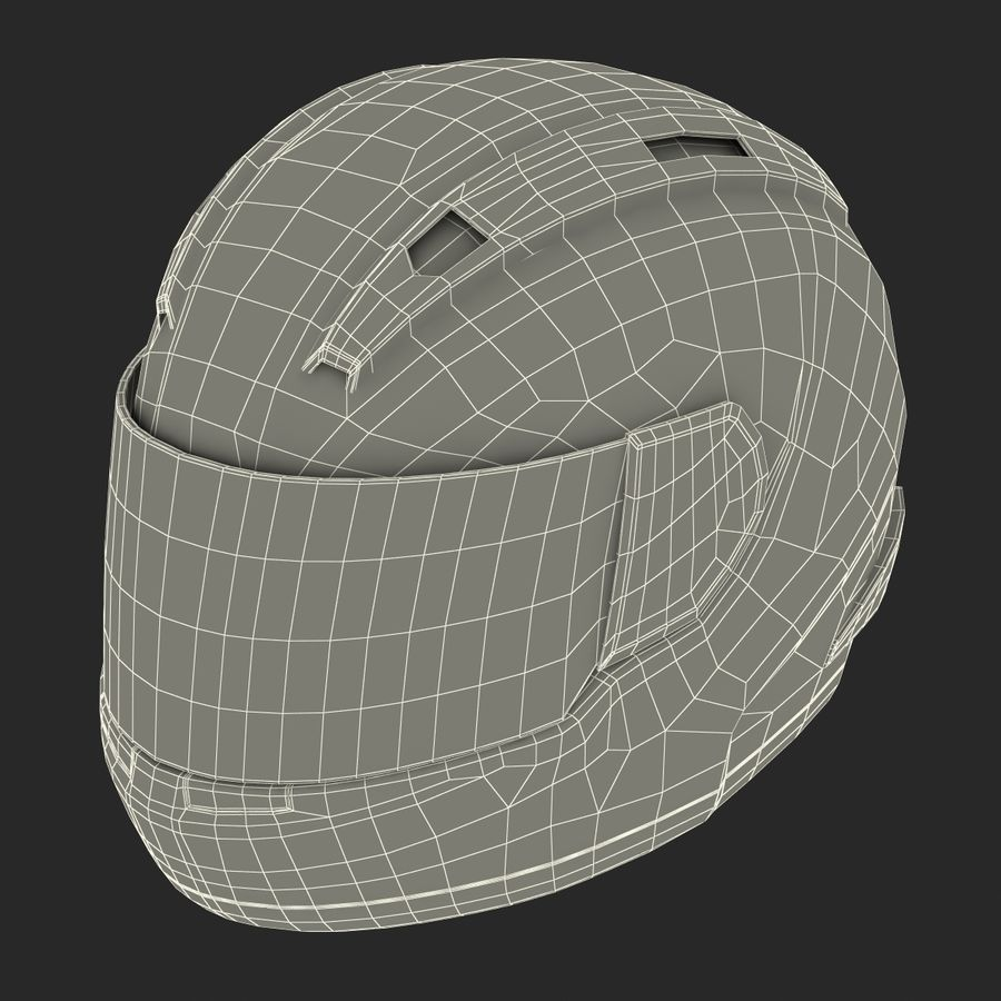 Motorcycle Helmet royalty-free 3d model - Preview no. 24