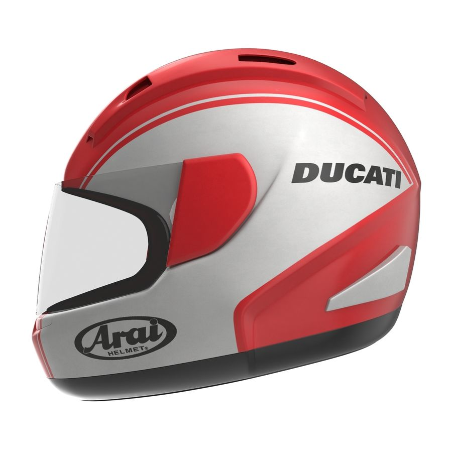 Motorcycle Helmet royalty-free 3d model - Preview no. 3