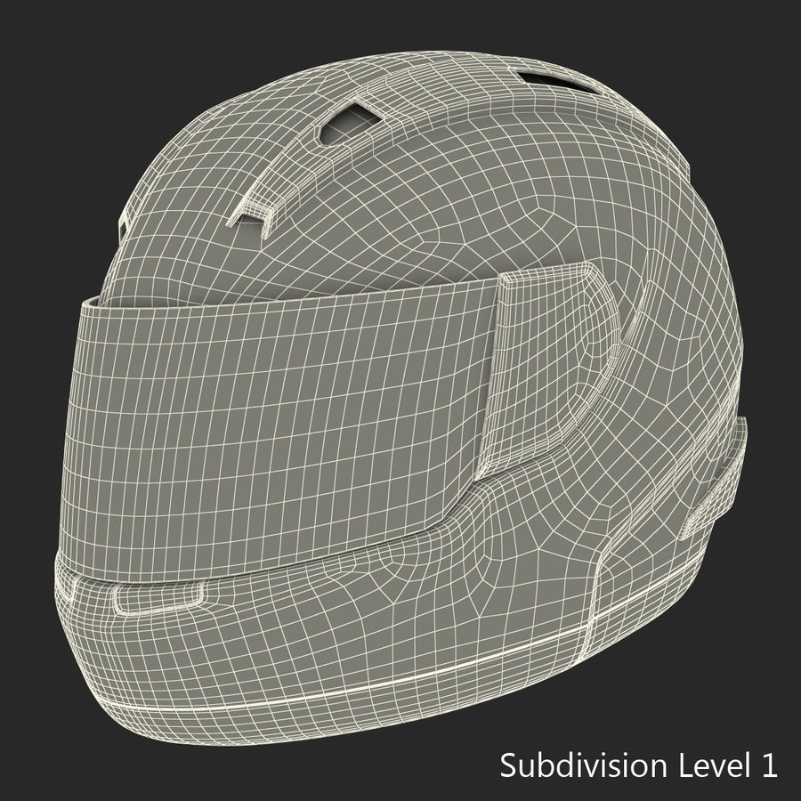 Motorcycle Helmet royalty-free 3d model - Preview no. 20