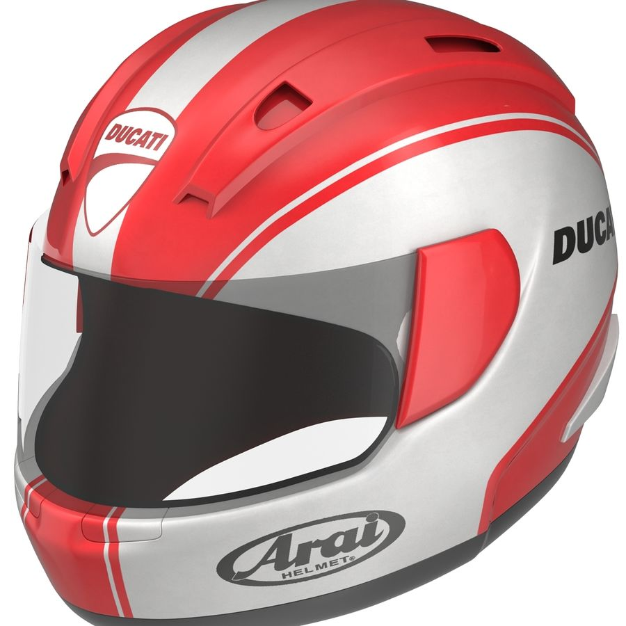Motorcycle Helmet royalty-free 3d model - Preview no. 11