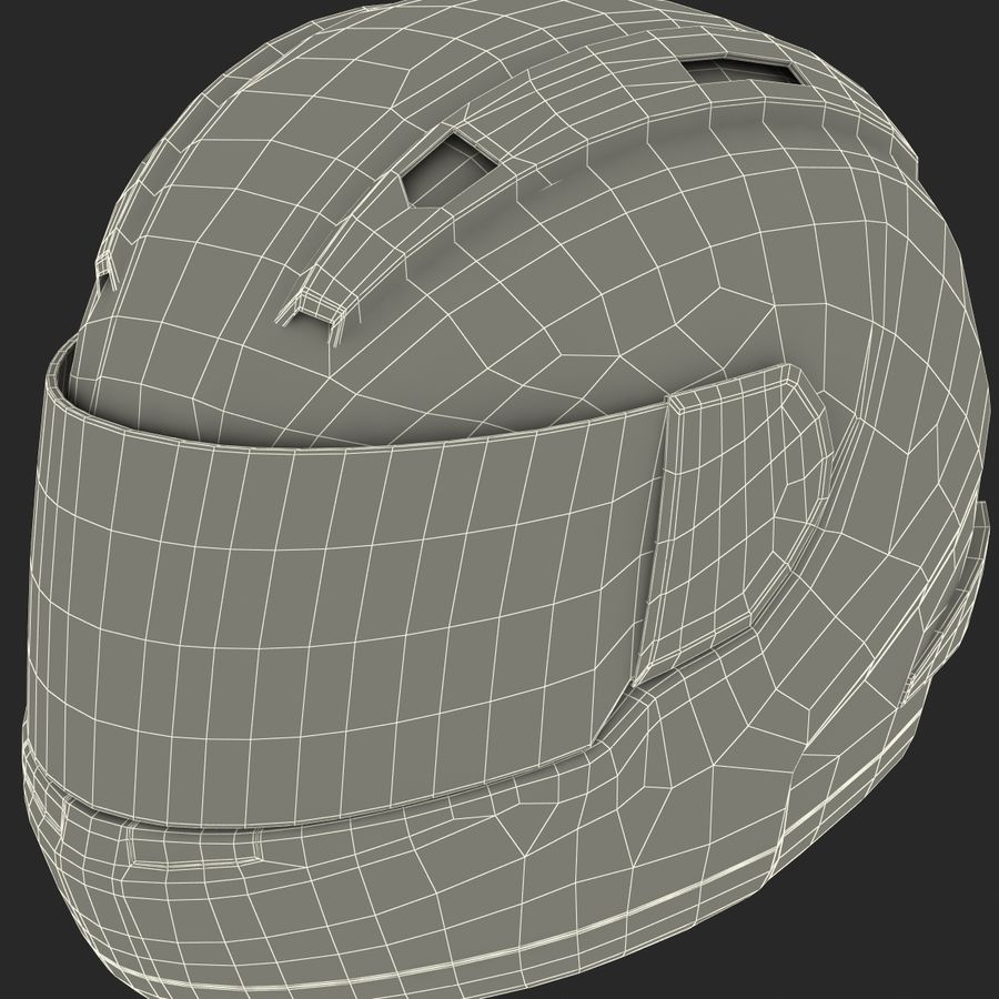 Motorcycle Helmet royalty-free 3d model - Preview no. 28