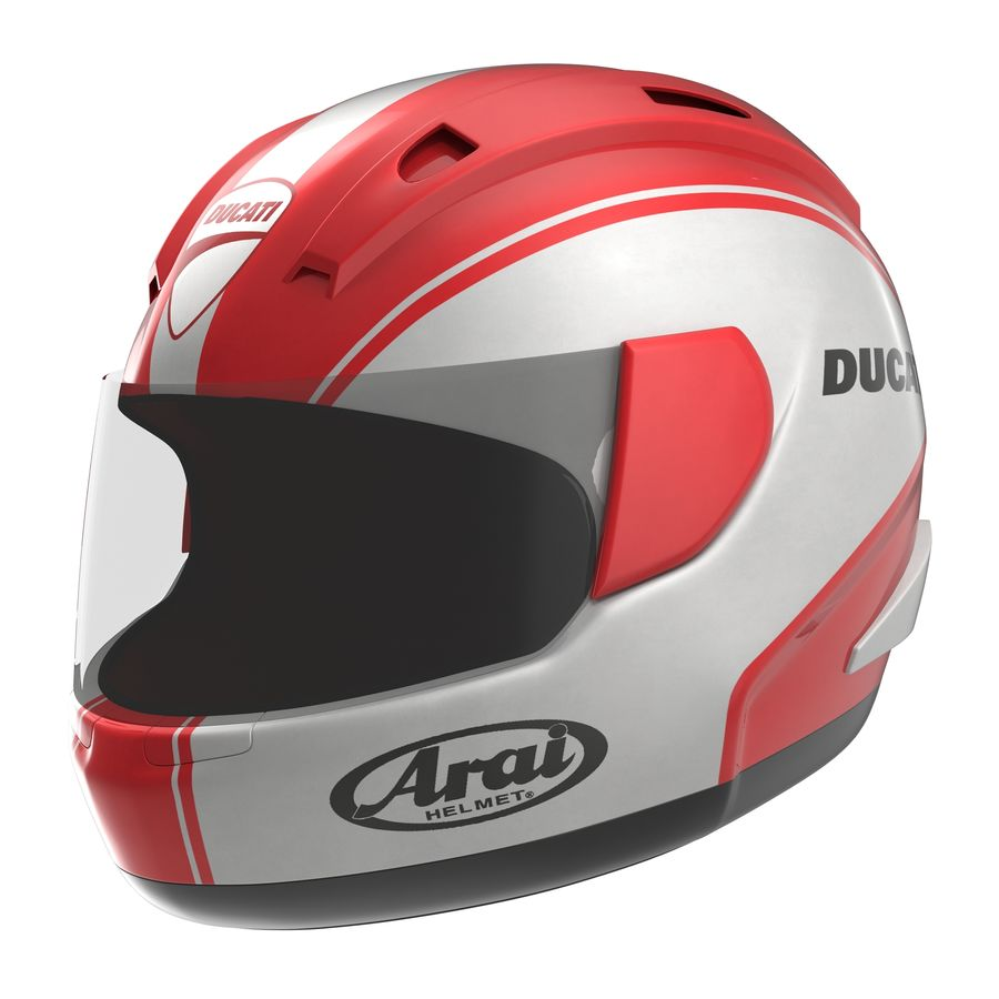 Motorcycle Helmet royalty-free 3d model - Preview no. 2