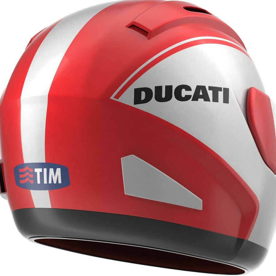 Motorcycle Helmet royalty-free 3d model - Preview no. 12
